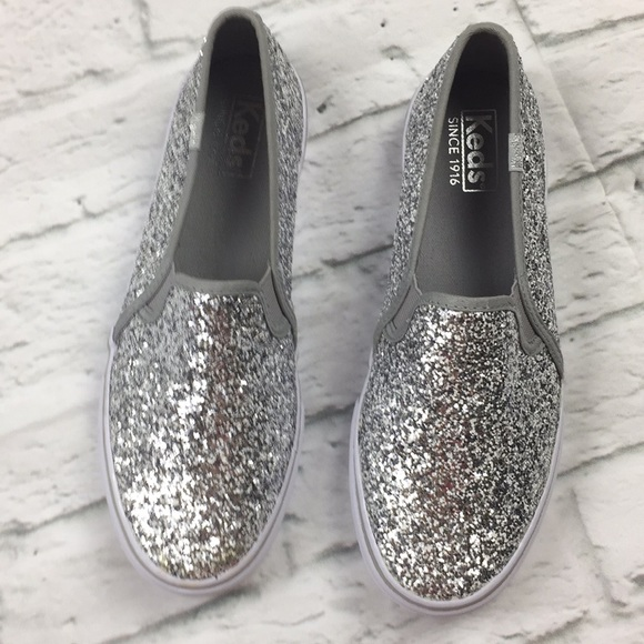 silver sparkle keds